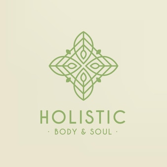 Modelo de logotipo holístico detalhado