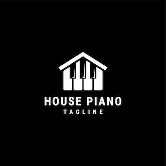 Modelo de logotipo house piano
