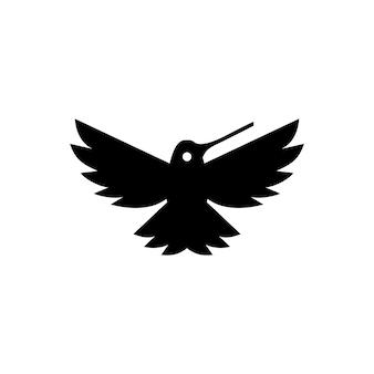 Modelo de logotipo hummingbird colibri