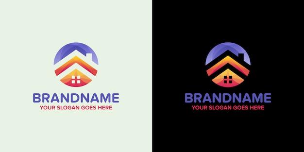 Modelo de logotipo imobiliária agência colorida