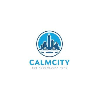 Modelo de logotipo imobiliário urbano