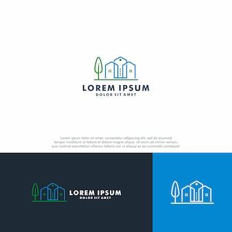 Modelo de logotipo imobiliário