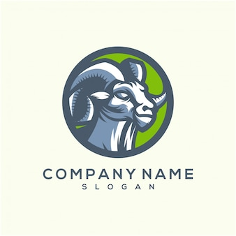 Modelo de logotipo incrível cabra