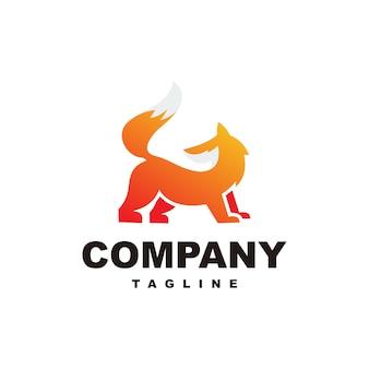 Modelo de logotipo incrível raposa