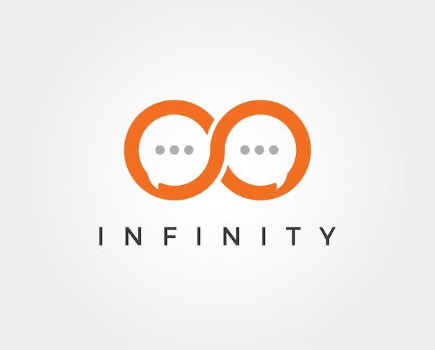 Modelo de logotipo infinito de comunicação