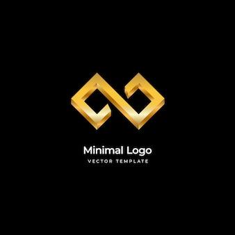 Modelo de logotipo infinito mínimo ilustração vetorial