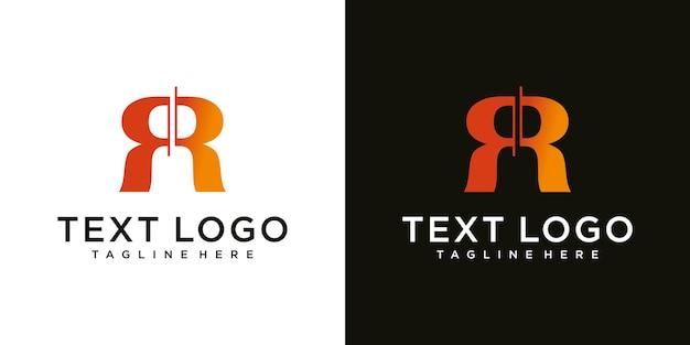Modelo de logotipo inicial da letra rr
