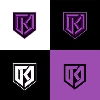Modelo de logotipo inicial esporte k