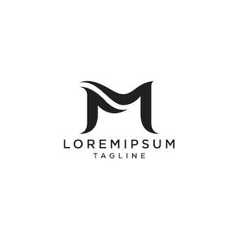 Modelo de logotipo inicial letra m.
