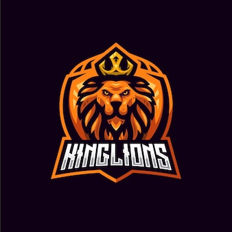 Modelo de logotipo king lion esport