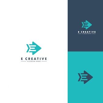Modelo de logotipo letra e