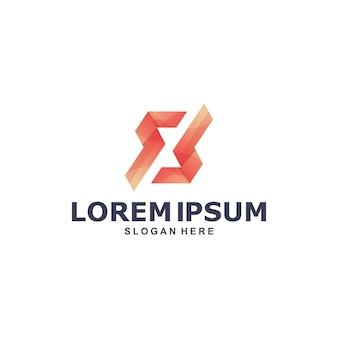 Modelo de logotipo letra s