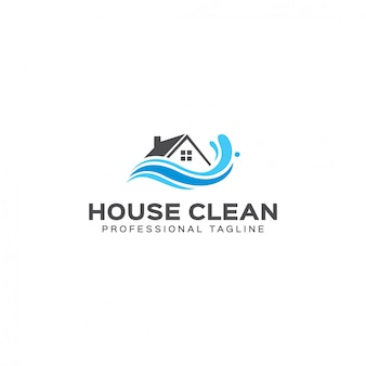 Modelo de logotipo limpo de casa