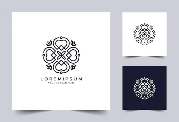 Modelo de logotipo linear de ornamento
