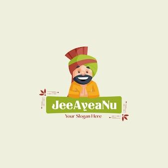 Modelo de logotipo mascote de vetor jee ayea nu