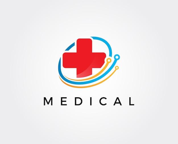 Modelo de logotipo médico digital