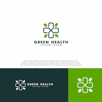Modelo de logotipo médico verde