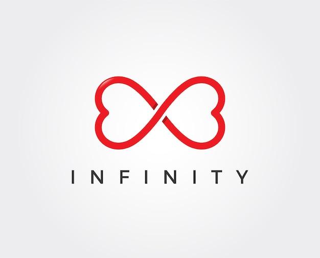 Modelo de logotipo minimal ininity