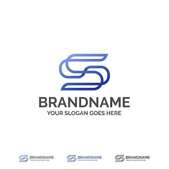 Modelo de logotipo minimalista da letra s
