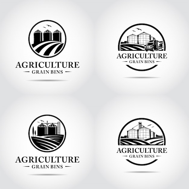 Modelo de logotipo minimalista de agricultura