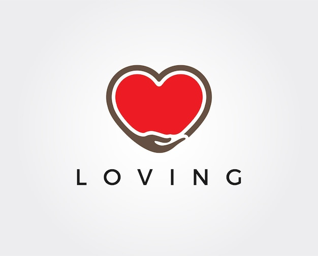 Modelo de logotipo mínimo amoroso