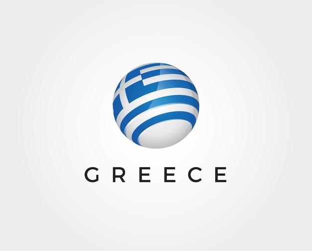 Modelo de logotipo mínimo da grécia