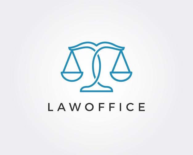 Modelo de logotipo mínimo de advogado