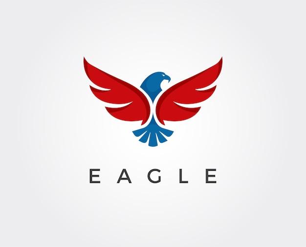 Modelo de logotipo mínimo de águia - ilustração vetorial