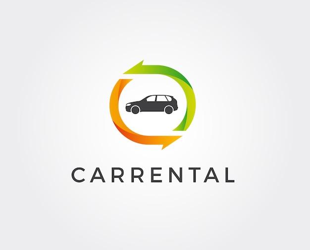 Modelo de logotipo mínimo de aluguel de automóveis