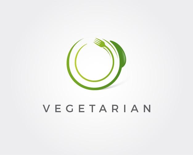 Modelo de logotipo mínimo de comida verde