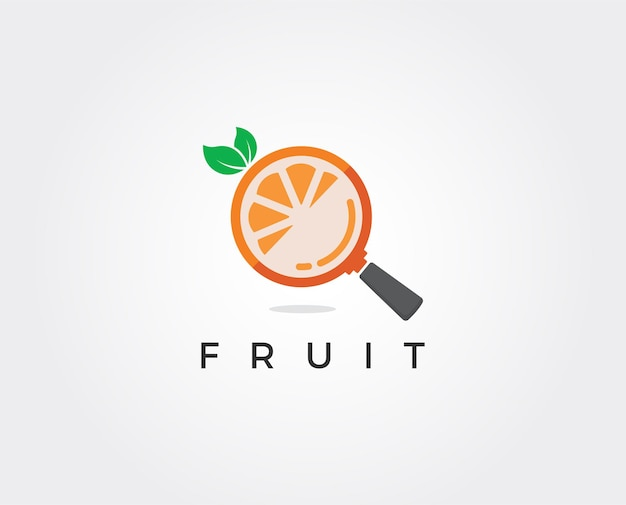 Modelo de logotipo mínimo de frutas