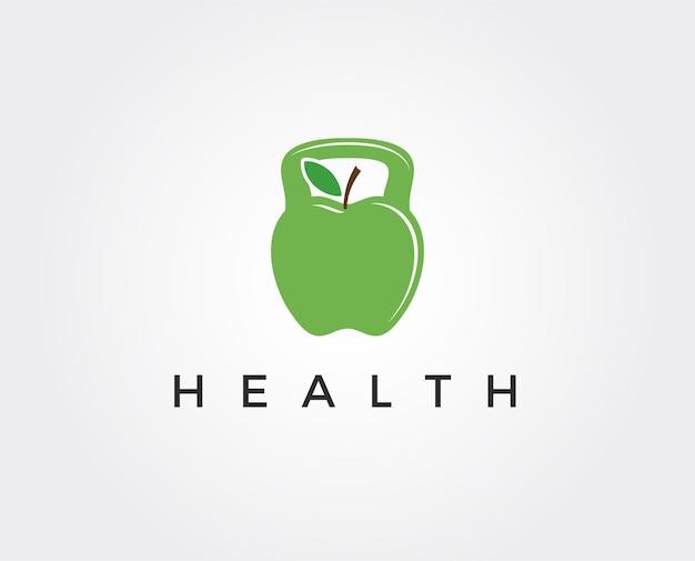 Modelo de logotipo mínimo saudável