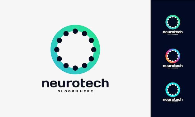 Modelo de logotipo modern abstract circle technology, vetor de designs de logotipo wire tech, ícone de símbolo de logotipo