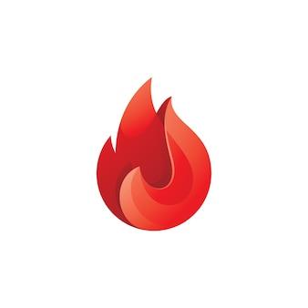 Modelo de logotipo moderno abstrato fogo