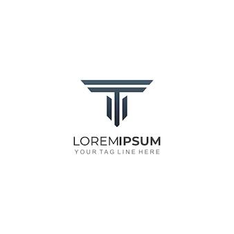 Modelo de logotipo moderno com letra t