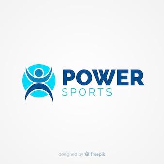 Modelo de logotipo moderno de esportes com design plano
