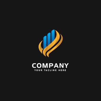 Modelo de logotipo moderno de finanças