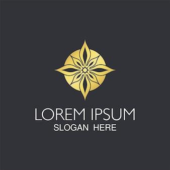 Modelo de logotipo moderno de flor abstrata