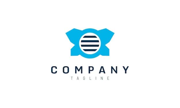 Modelo de logotipo moderno holofote azul para uma marca de identidade empresarial