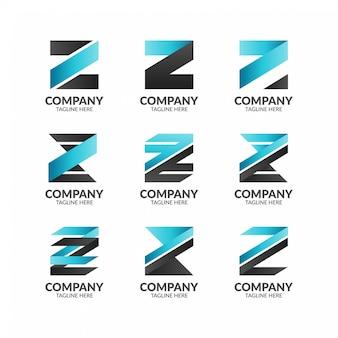Modelo de logotipo moderno letra futurista z