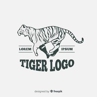 Modelo de logotipo moderno tigre