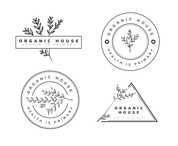 Modelo de logotipo natural e orgânico
