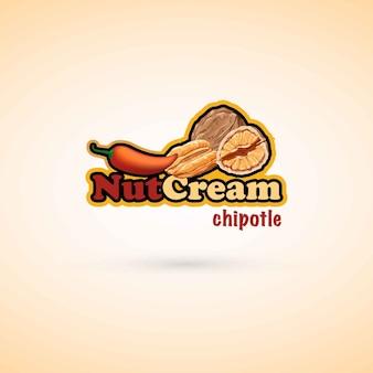 Modelo de logotipo nutcream