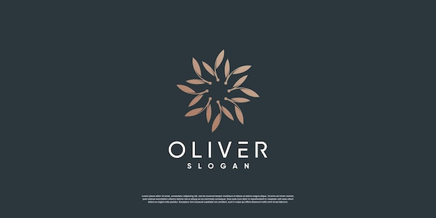 Modelo de logotipo olive com elemento criativo de estilo premium vector parte 10