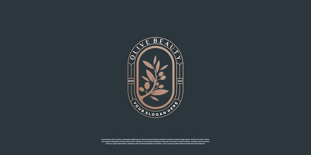 Modelo de logotipo olive com estilo de elemento criativo premium vector parte 1