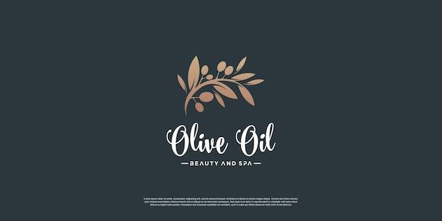 Modelo de logotipo olive com estilo de elemento criativo premium vector parte 4