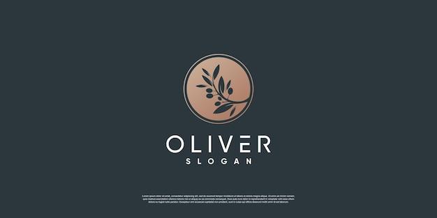 Modelo de logotipo olive com estilo de elemento criativo premium vector parte 6