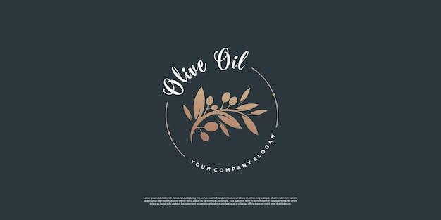 Modelo de logotipo olive com estilo de elemento criativo premium vector parte 7