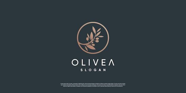 Modelo de logotipo olive com estilo de elemento criativo premium vector parte 8