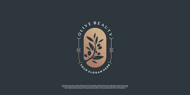 Modelo de logotipo olive com estilo de elemento criativo premium vector parte 9